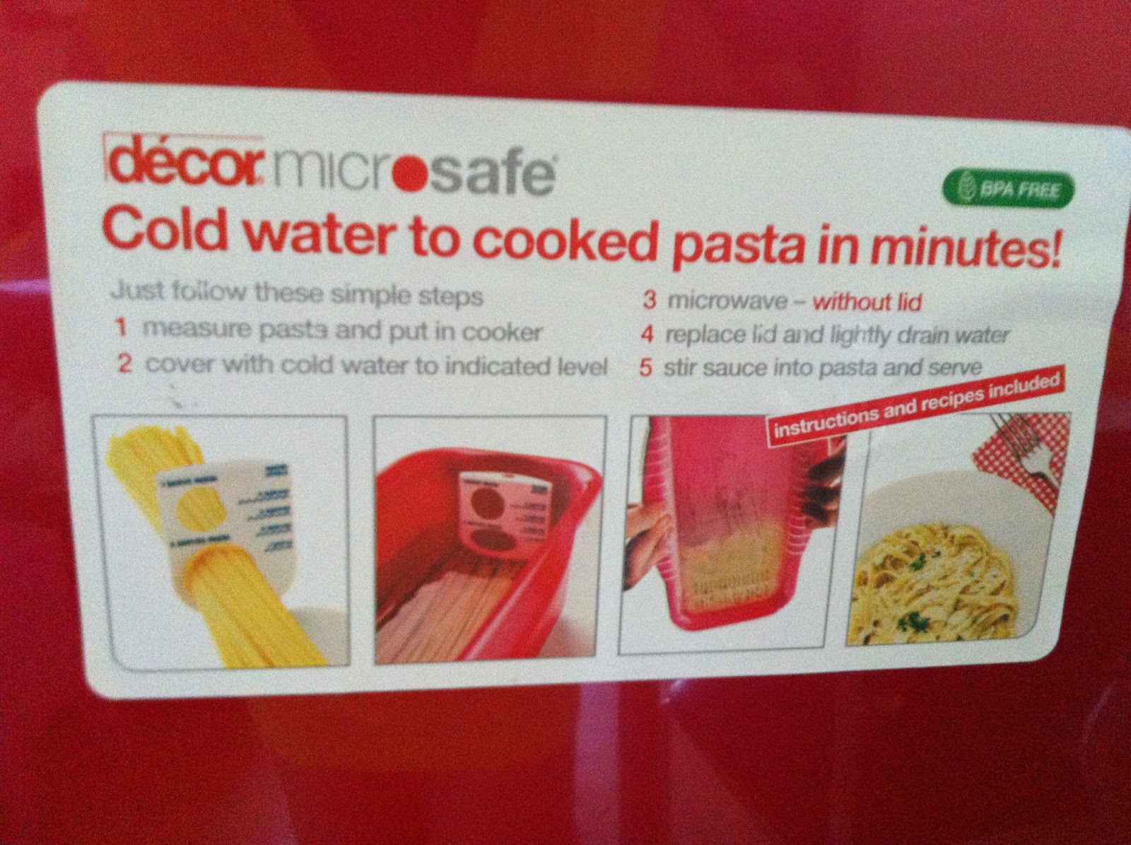 I First Measure The Pasta
