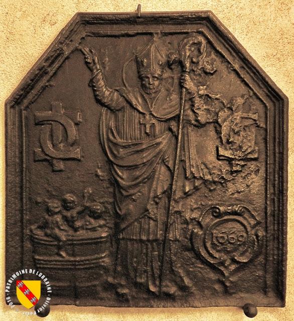 Saint-Nicolas (1669) - Taque de cheminée - Musée Lorrain de Nancy (54)