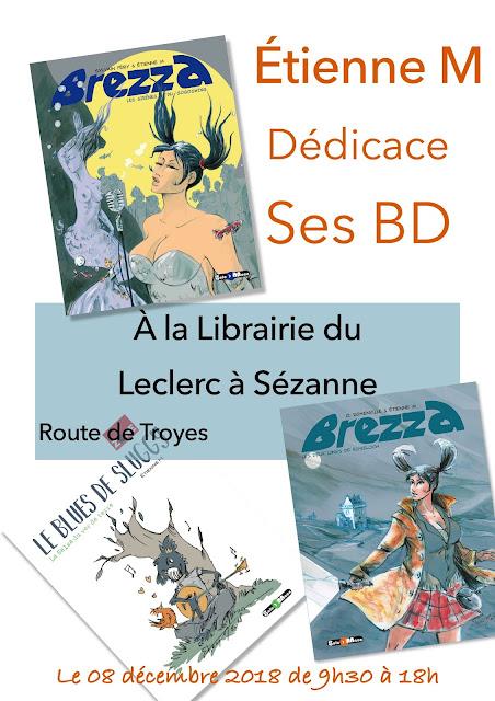 Dédicaces BD Etienne M, au Leclerc de Sézanne