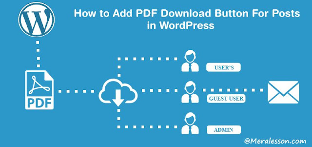 Add PDF For Posts in WordPress