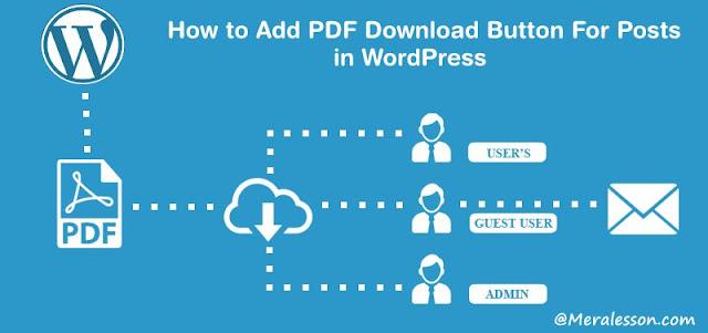 Add PDF For Posts in WordPress
