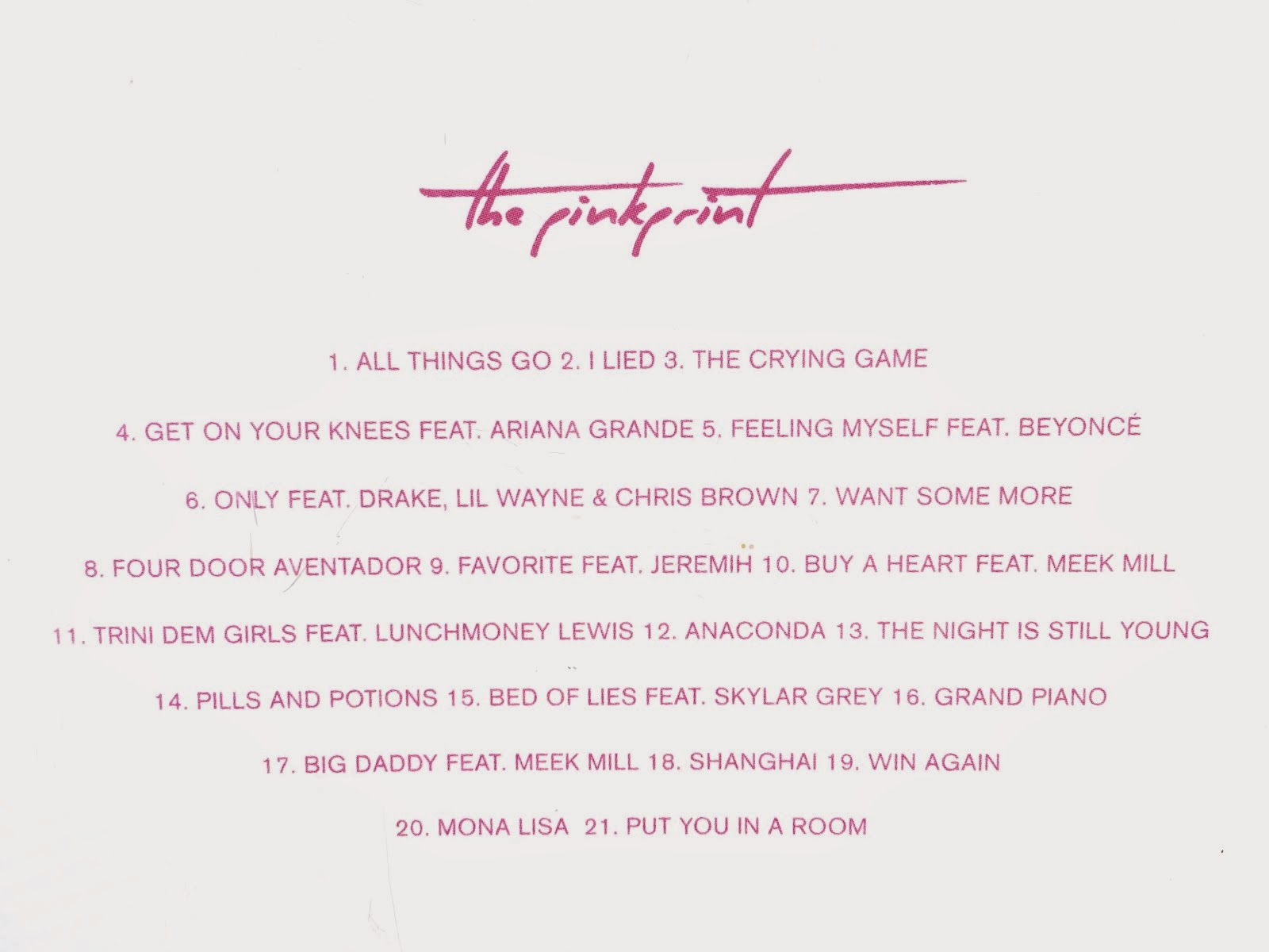 Love Came Along: Album: Nicki Minaj's THE PINKPRINT