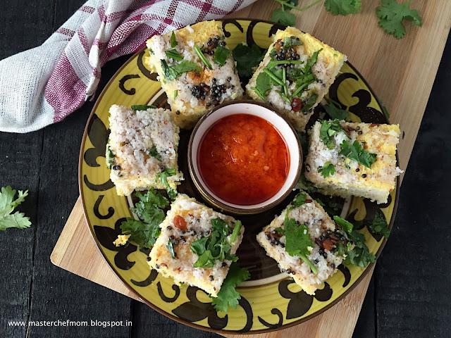 Bread Dhokla |Sandwich Dhokla |