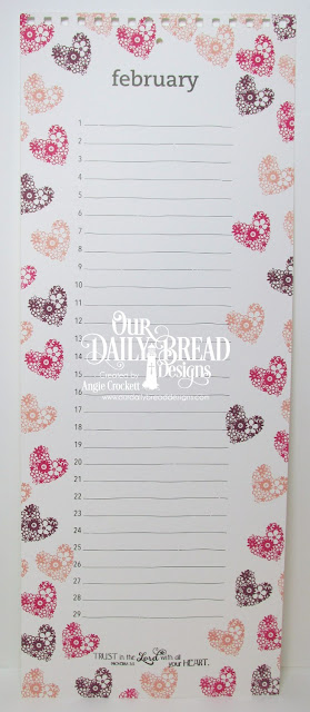 ODBD Clean Heart, Birthday Calendar Page designed by Angie Crockett