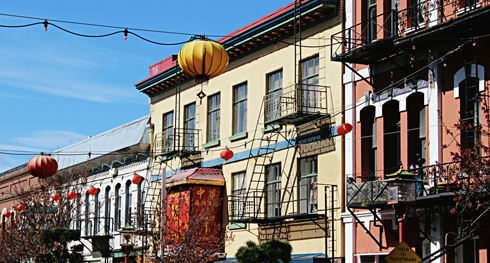 victoria chinatown downtown british columbia