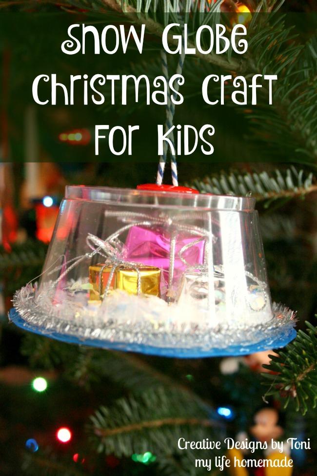 My Life Homemade Snow Globe Christmas Craft For Kids