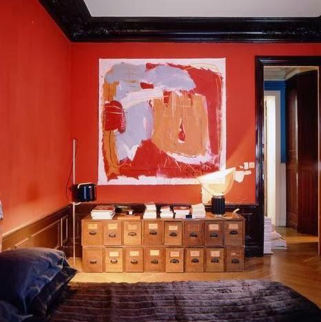 gran lienzo en el dormitorio