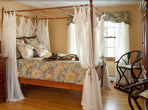 Dreamy and Romantic Full Draped Canopy Beds 13
