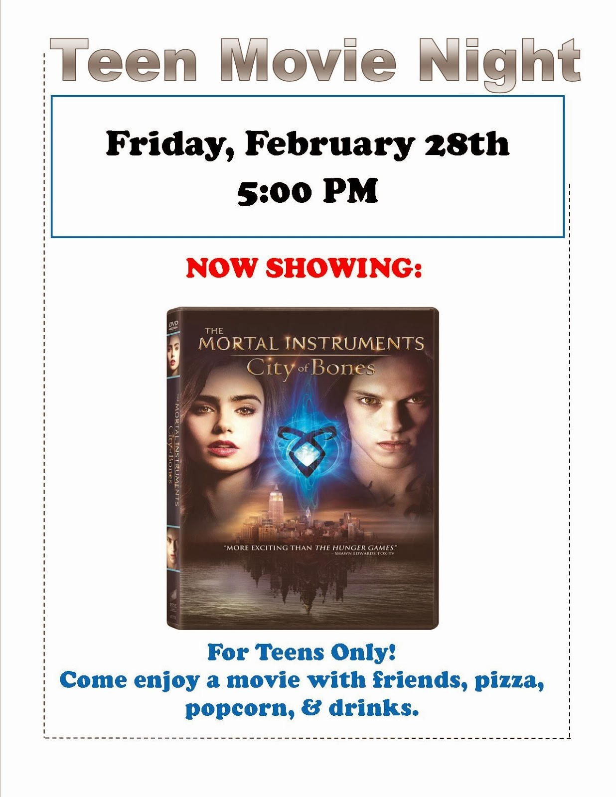 Teen Movie Night - City of Bones