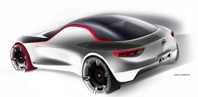 hässliche skizze eines Opels