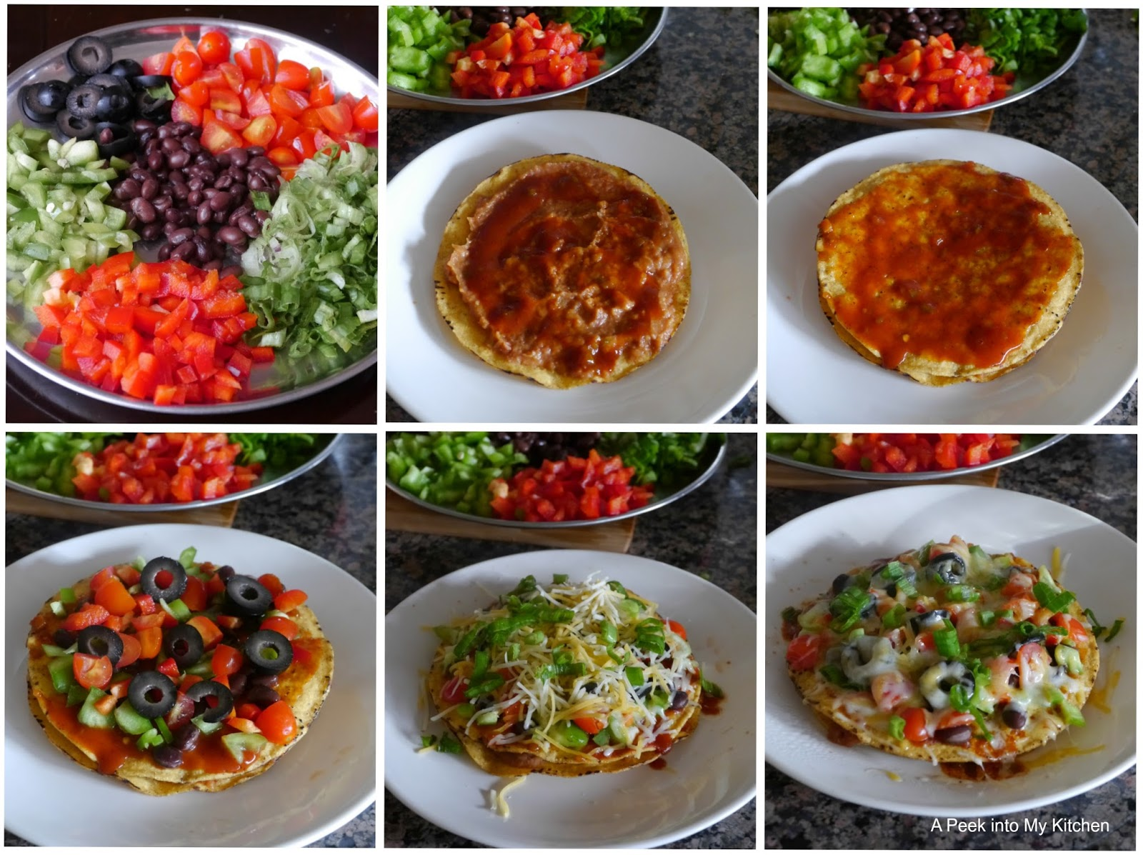 Peek into My Kitchen: Semi-homemade Vegetarian Mexican Pizza ~ Day ...