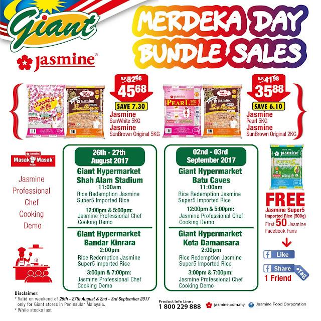 Giant Hypermarket FREE 500g Jasmine Super5 Imported Rice