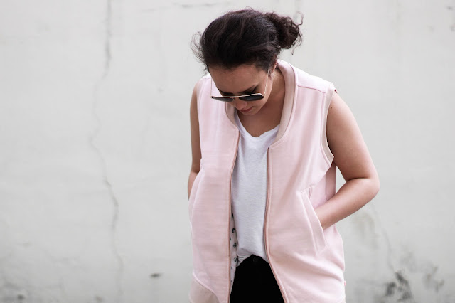 pink casual vest