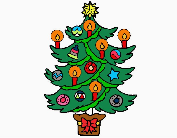 Desenhos Colorido De Arvore De Natal Formando Alunos