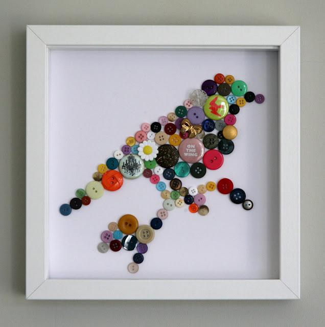 Düğmelerle Dekoratif Objeler