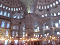 The Blue Mosque interior, Istanbul, Turkey