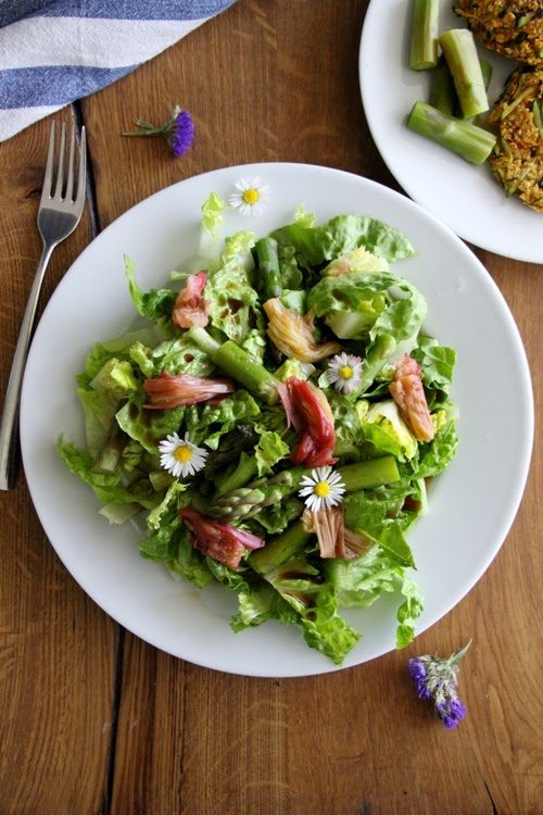 Rhabarber - Spargel - Salat, Rhuburb salad
