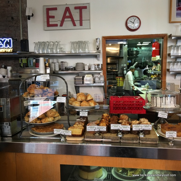 interior of bakery next door to Clinton St. Baking Co. in NYC