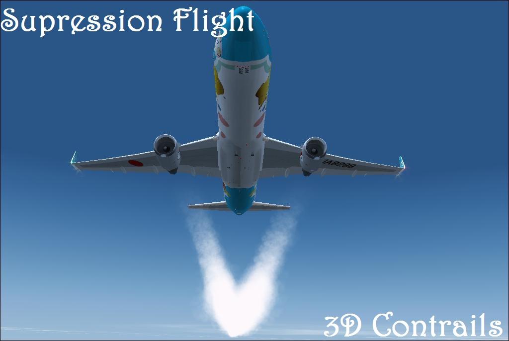 Download Supression Flight 3D Contrailes #FSX #FS9