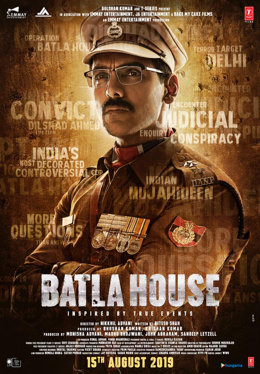 Batla House: India's Most Controversial Cop. First Look Poster | Jhon Abraham