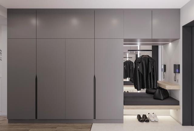 minimalis lemari apartemen, desain minimalis lemari apartemen
