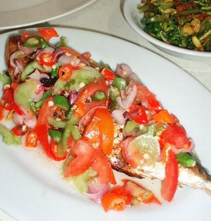 International Recipes: Grilled Fish Sambal Dabu-dabu (Ikan Bakar Sambal Dabu-dabu)