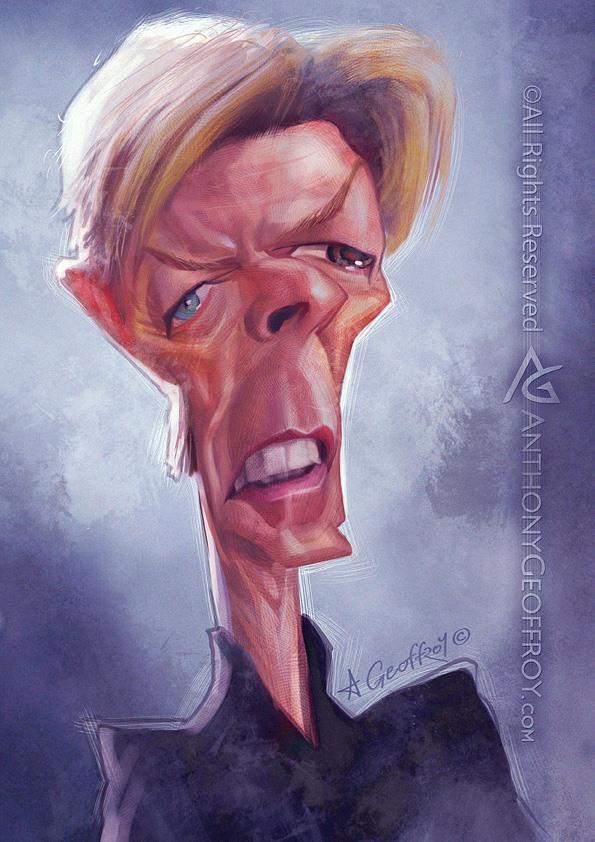 David Bowie por Anthony Geoffroy