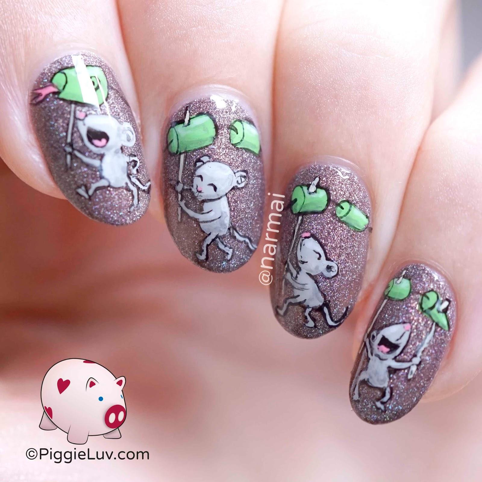 Piggieluv Mice On Parade Nail Art