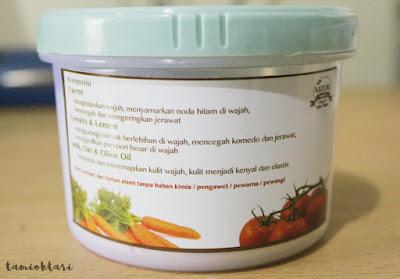 Nature Organic Carrot Tomato untuk Kulit Berjerawat