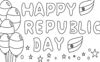 26 January Republic Day Sketches