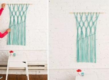 Membuat Hiasan Dinding Cantik Macrame