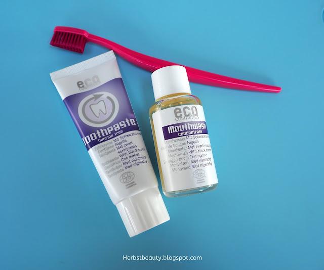 ECO Cosmetics Toothpaste und Mouthwash
