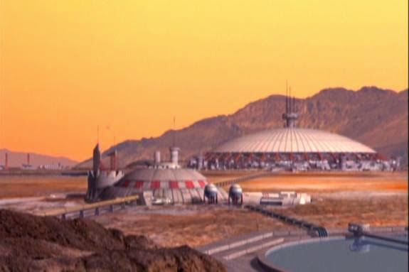 Mars colony in Babylon 5