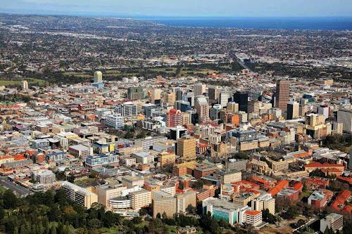 Foto aérea de Adelaide