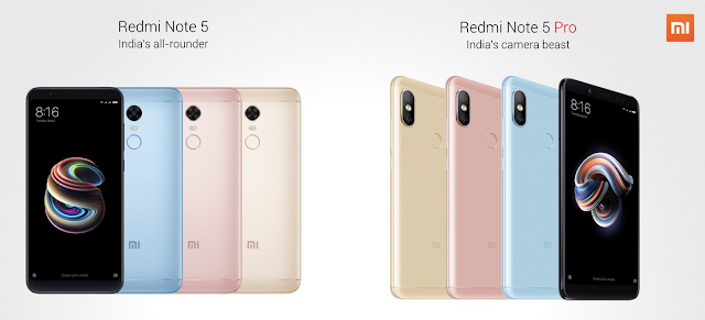 Xiaomi Redmi Note 5 And Redmi Note 5 Pro India Launch Specificatons Features And Price