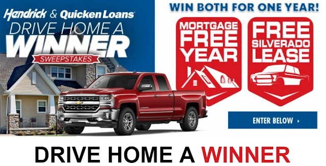 Hendrick Auto has teamed up with Quicken Loans and they want you to enter once for the chance to win BOTH a brand new Silverado lease AND free mortgage payments for a year!