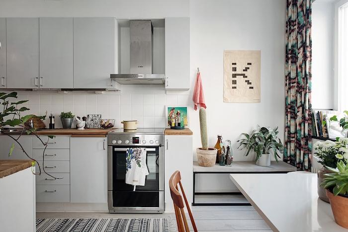 ideas para decorar un piso de alquiler- cocina antigua pintada
