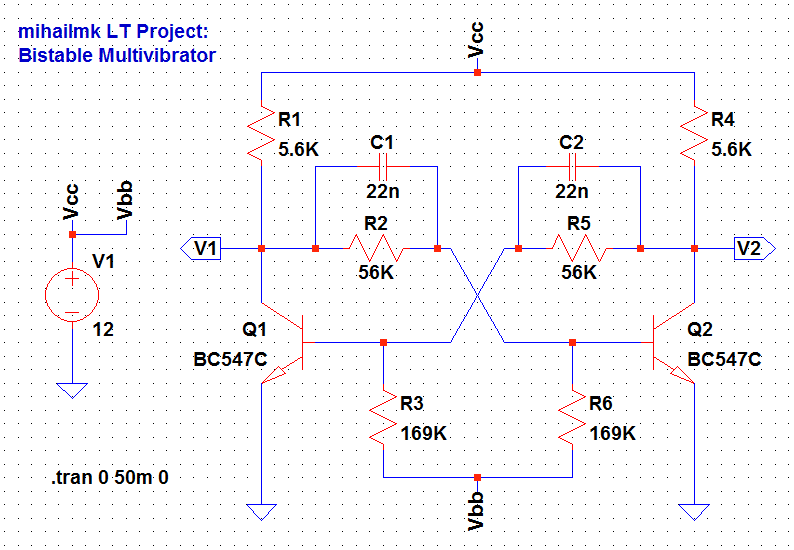 Remarkable Electro Magnetic World Bistable Multivibrator Trigger Circuit Wiring Digital Resources Arguphilshebarightsorg