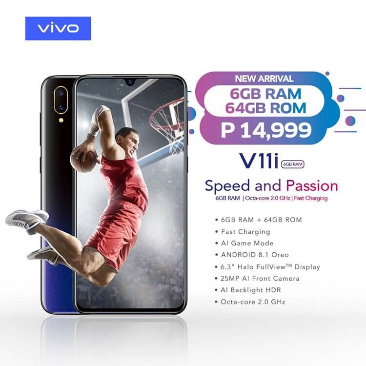 Vivo V11i with 6GB RAM and 64GB ROM Lands in PH