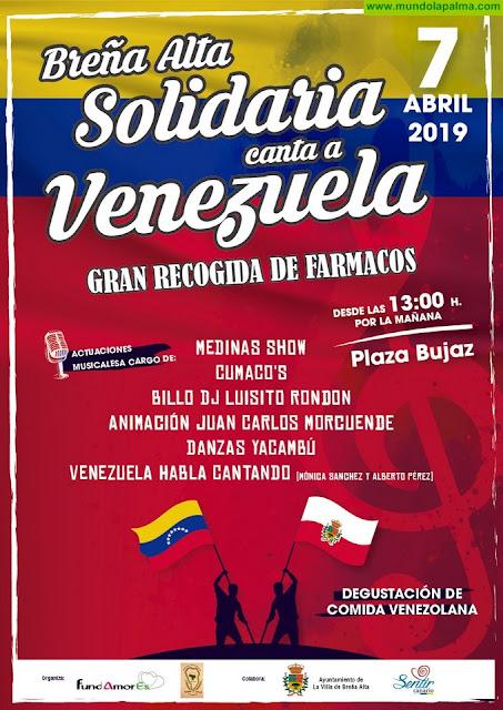 Breña Alta le canta a Venezuela en medio de una gran recogida solidaria de medicamentos