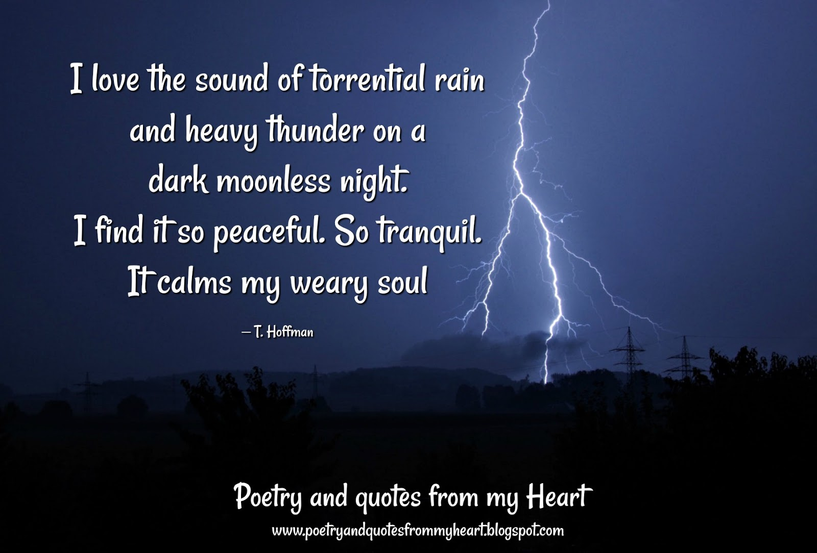 Poetry and quotes from my Heart: I love the sound of ...