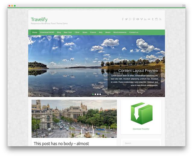 travelify wordpress gezi teması