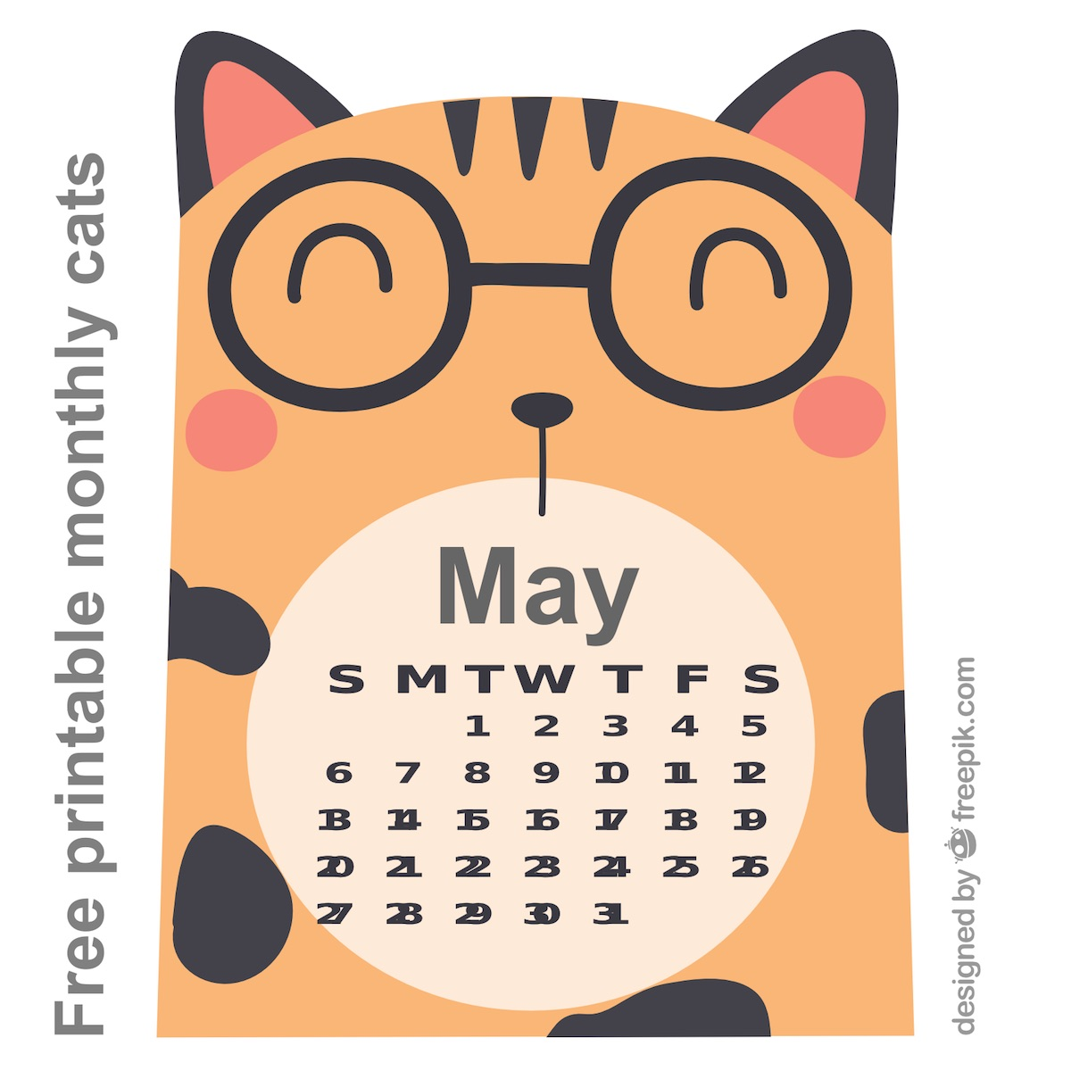 free cat images free printable monthly cat calendar cards with the