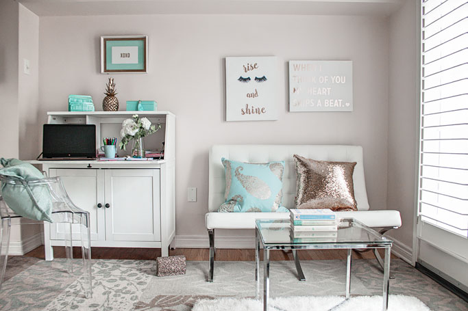 Three ways to style an office decor how to post turquoise and gold