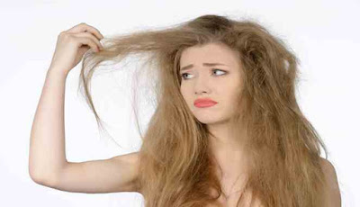 Dry hair problems in women