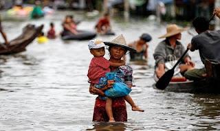فيضانات في ميانمار تقتل خمسة أشخاص على الأقل وتهجير 54000 شخص