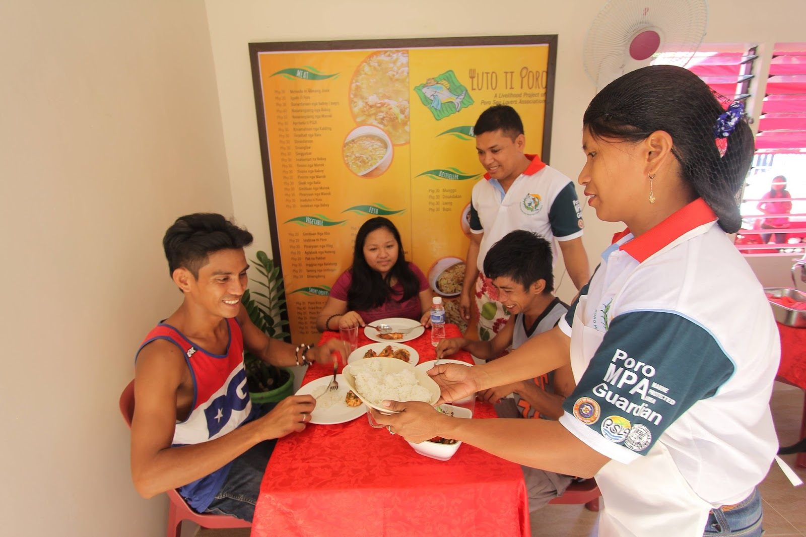 Food service livelihood program for Poro fishers