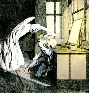 llustration by James McBryde for M. R. James's story