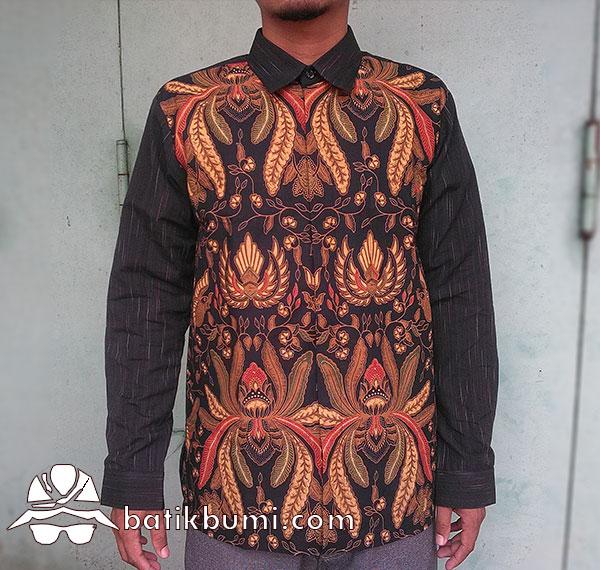 Kemeja Batik Pisang Bali Mix Tenun
