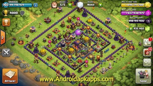 Free Download Clash of Clans v7.65.5 Mod Hack APK (Unlimited Gold Infinite Gems Dark Elixir) Update Terbaru 2015 Gratis